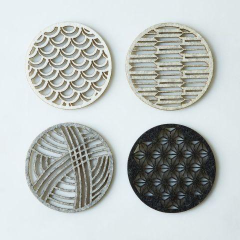 molly m designs geometric felt coasters - Drink Coasters