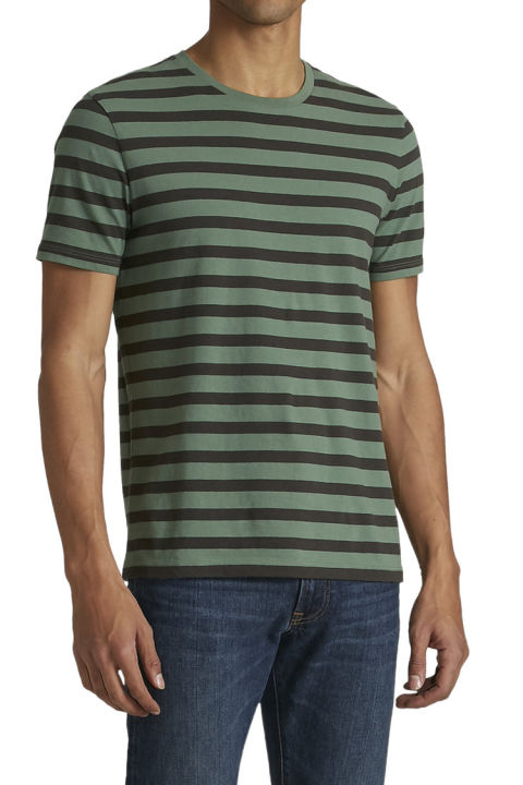 $15 BUY NOW This tee is a solid buy for three reasons — stripes are in, forest/olive green is still hot this season, and it's only 15 bucks! Seriously hard to go wrong here.