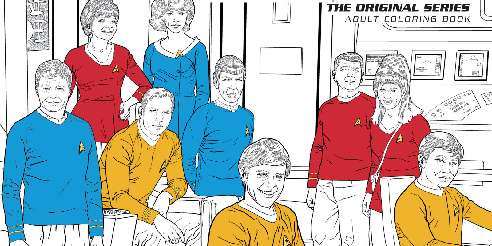 Star trek themed adult coloring books will be available Best colouring books for adults 2018