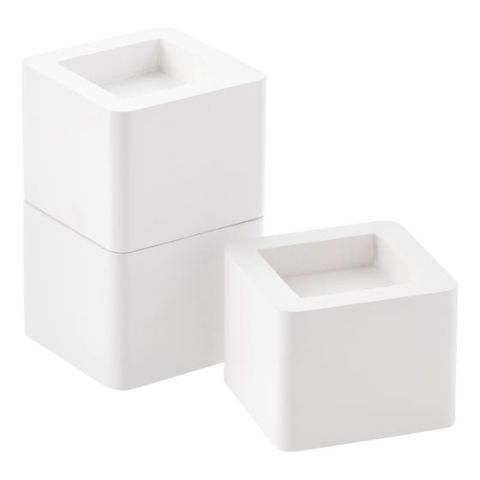 The Container Store White Solid Wood Bed Risers