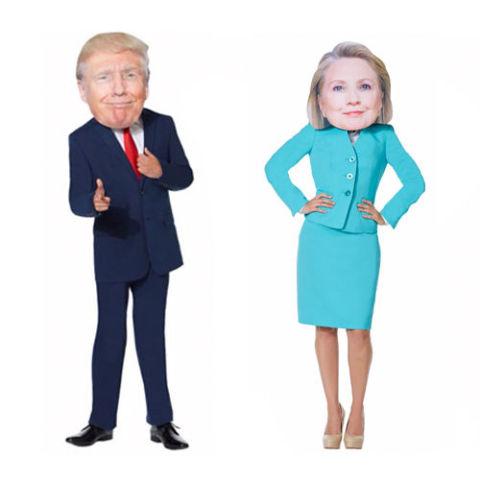 Giant Hillary Clinton  Donald Trump Head Mask