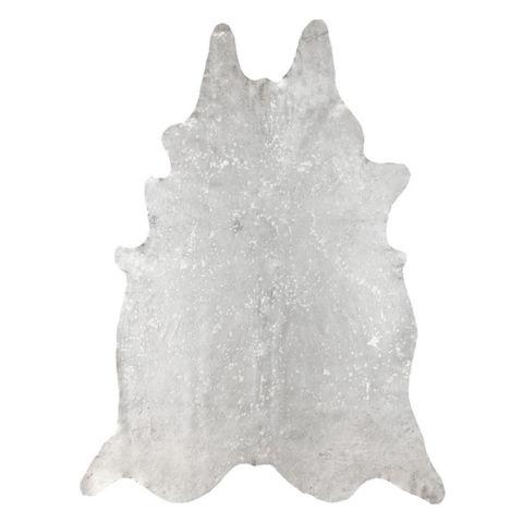 nuloom handpicked brazilian white devour cowhide rug