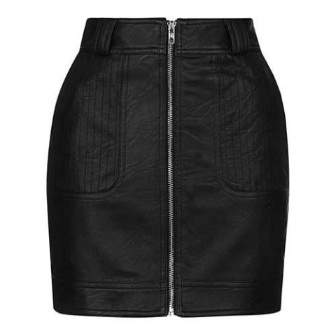 9 Best Black Leather Skirts for Fall 2017 - Real and Faux Leather ...