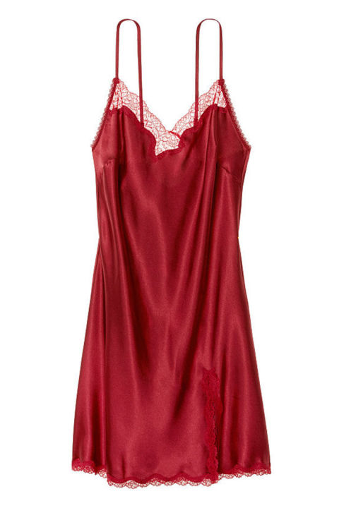$42 BUY NOWKeep things simple and sexy in this Victoria's Secret nightgown. It's holiday-ready with red satin and lace, and exactly the kind of thing you might get caught kissing Santa Claus in.