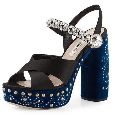 ef72af494214 Miu Miu Blue Velvet Shoes