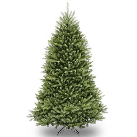 2 national tree 75feet dunhill fir hinged artificial christmas tree