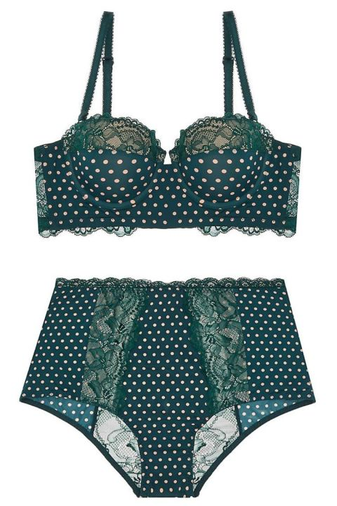 Top: $48 BUY NOWBottom: $38 BUY NOW  Less isn't always more. This retro-inspired set plays up your curves, and will get you into the Christmas spirit with its pretty forest green shade. (We're sure you'll want to wear it the rest of the year, too.)