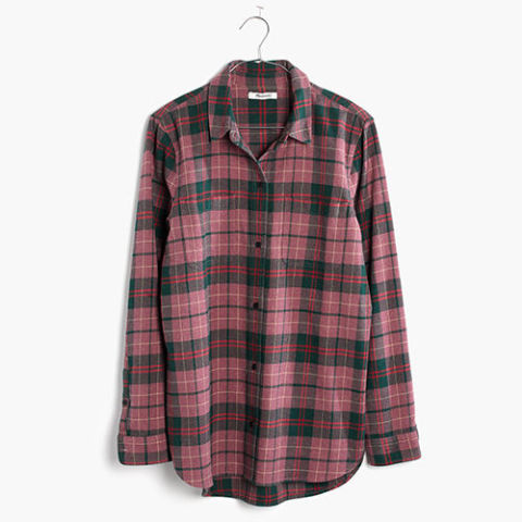 madewell pink flannel shirt - 10 Best Womens Flannel Shirts For Winter 2017 - Cute Flannel And