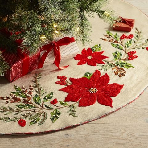 Fur Christmas Tree Skirt