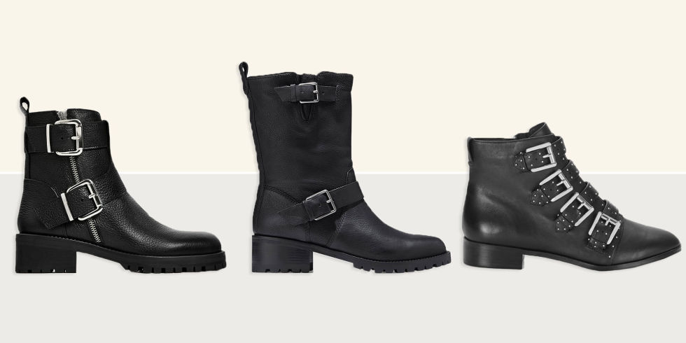 10 Best Black Biker Boots for Women in 2017 - Edgy Leather Biker ...