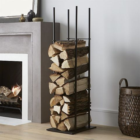 Crate & Barrel Frame Log Holder - 13 Best Firewood Log Holders For Winter 2017 - Indoor Firewood Log
