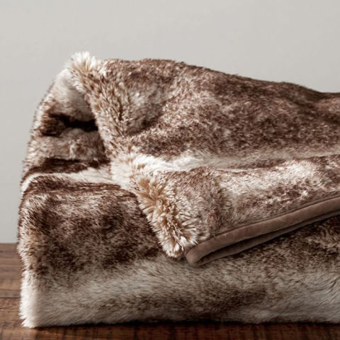 Large faux fur throws for sofas faux fur throw pottery for Fur throws for sofas