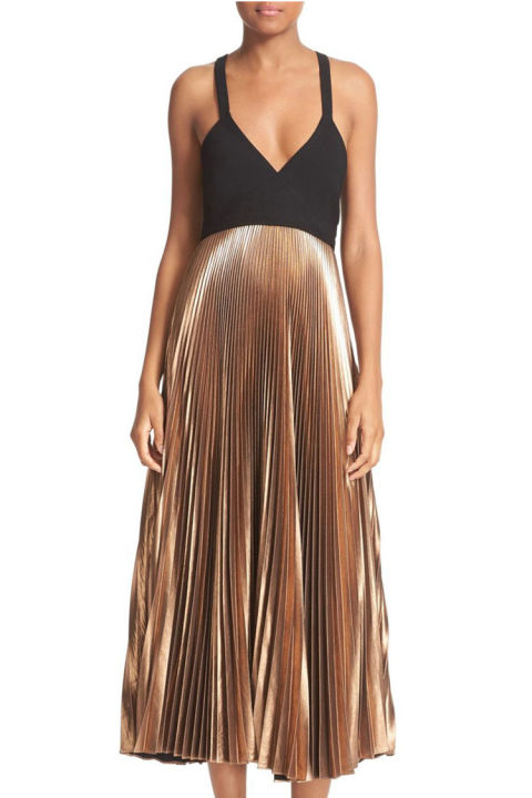 10 Best Metallic Dresses And Skirts For Winter 2017