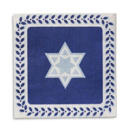 sur la table hanukkah paper cocktail napkins - Hanukkah Decorations