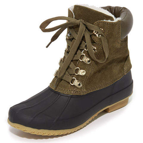 joie delyth suede olive and black duck boots - Duck Rain Boots