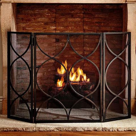wooden fireplace screens. Pottery Barn Moroccan Twist Fireplace Triple Screen 10 Best Screens for Winter 2018  Decorative Metal