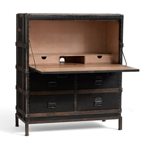 Pottery Barn Ludlow Trunk Secretary Desk