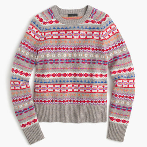 the prettiest fair isle sweaters at every price point The fair isle sweater I'm wearing today hails from my new favorite french brand— Sézane —which just opened a store in Soho and an e-commerce site in the US a few months ago.