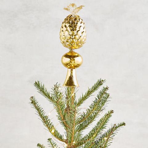golden pineapple tree topper