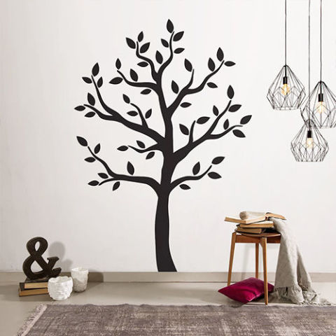 Shadow Modern Tree Wall Decal Part 72