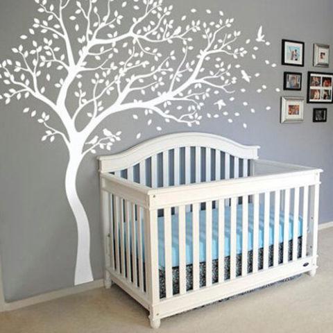White Tree Wall Decal Birds Woodland Nursery Part 50