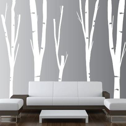 Birch Tree Vinyl Wall Decal Forest Nursery