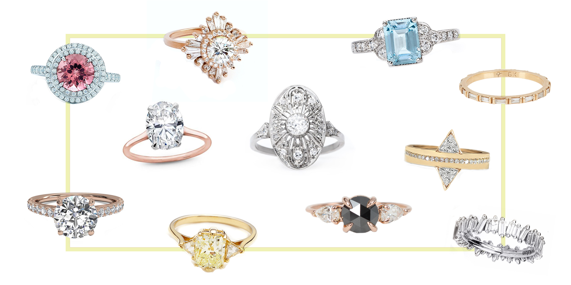 15 best new engagement ring styles in 2018 vintage non for Fine jewelry trends 2018