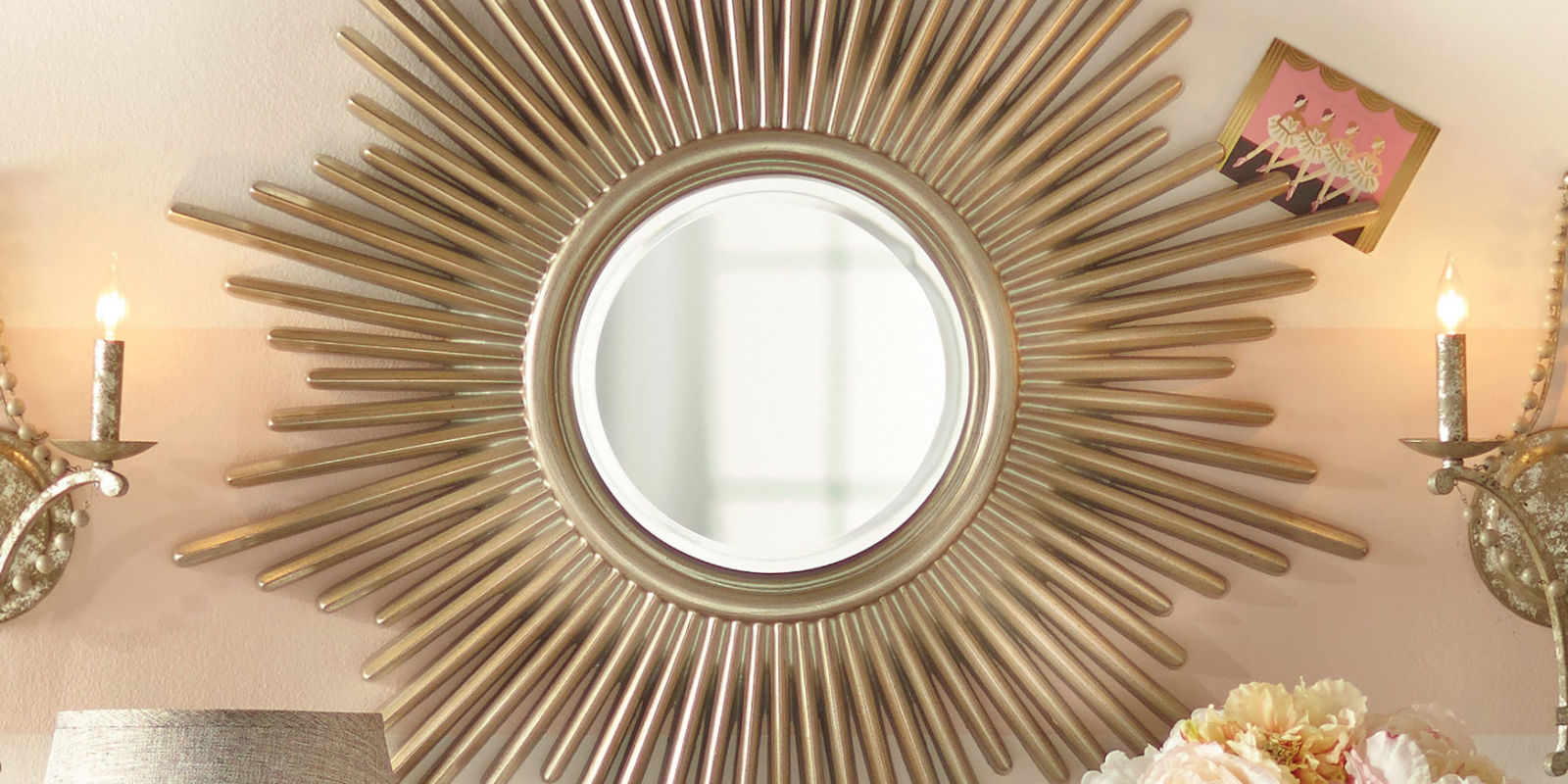 12 best sunburst mirrors in 2018 decorative small and large sunburst wall mirrors - Wall decor mirror home accents ...