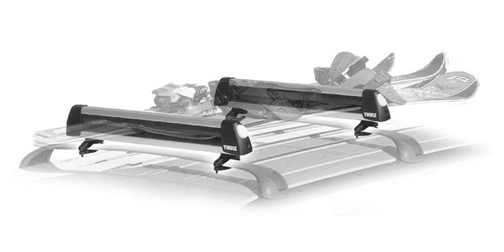 Thule Universal FlatTop 6 Ski And Snowboard Car Rack