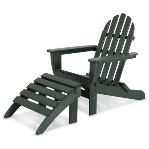 polywood don adirondack chair u0026 ottoman