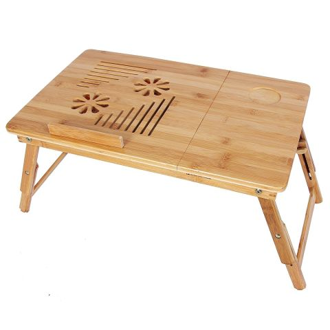 SONGMICS Bamboo Adjustable Laptop Desk