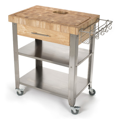 Delightful Chris U0026 Chris Pro Stadium Kitchen Cart With Butcher Block Top Design Inspirations