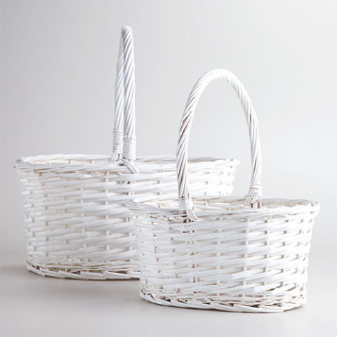 27 best easter basket ideas for kids in 2018 cute easter gift ideas white oval isabella baskets negle Gallery
