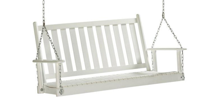 white porch swing with rope lowes home decorators collection classic stand