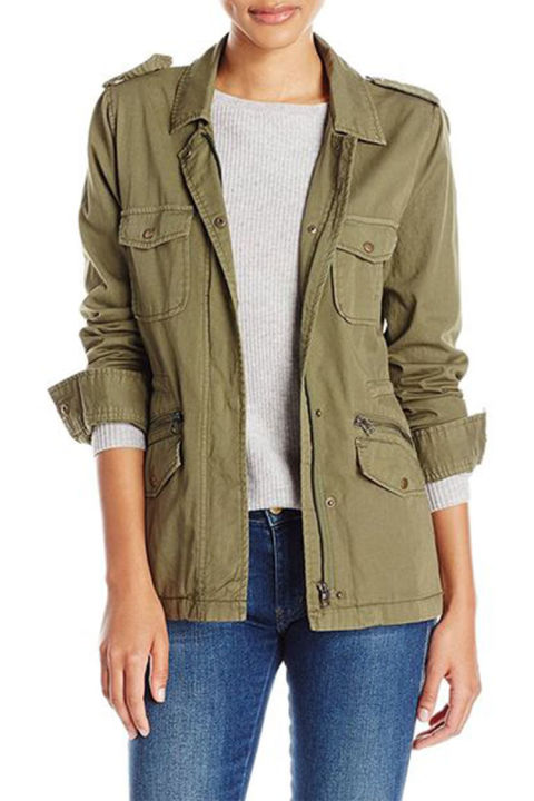 Womens military utility jacket