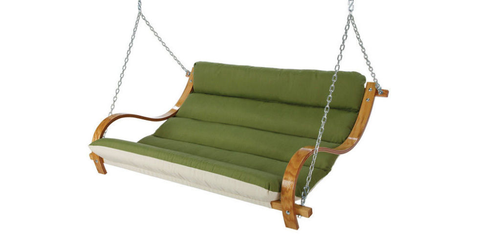 Brookstone Deluxe Cushioned Double Porch Swing