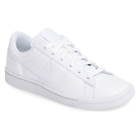 White Nike Tennis Shoes On Foot