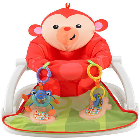Fisher Price Deluxe Monkey Sit Me Up Floor Seat