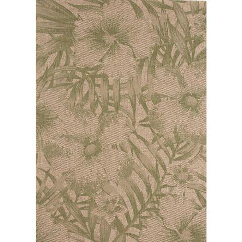 Hampton Bay Tropical Blossom Green Indoor/Outdoor Area Rug