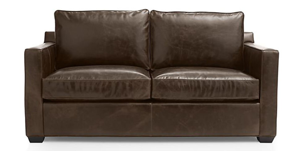 contemporary leather sofa sleeper. crate \u0026 barrel davis leather full sleeper sofa contemporary