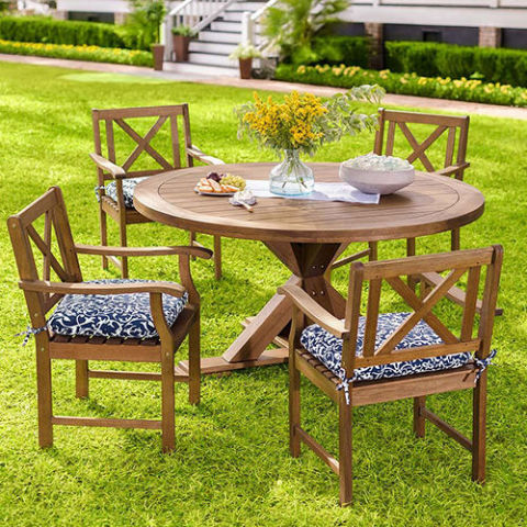 Plow U0026 Hearth Claremont Eucalyptus Round Dining Table And Chairs Part 82