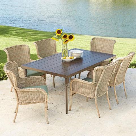 Hampton Bay Lemon Grove 7 Piece Wicker Outdoor Dining Set Part 59