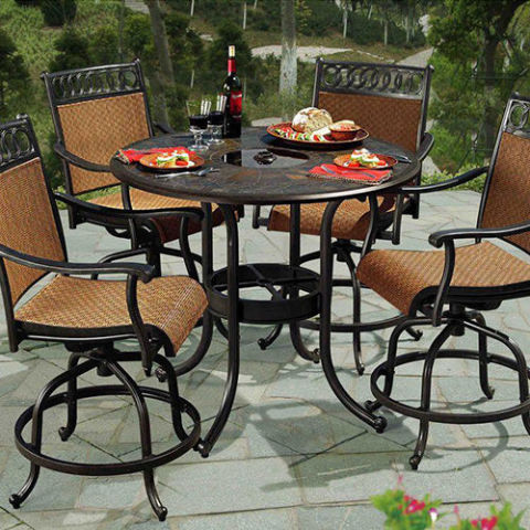 Sunjoy Seabrook Patio High Dining Set