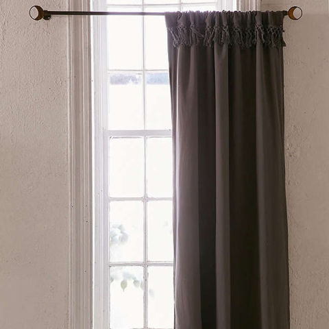 Urban Outfitters Tassel Blackout Curtain