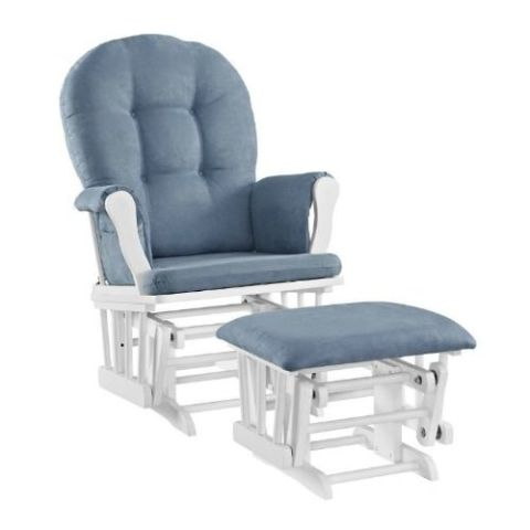 Angel Line Windsor Glider And Ottoman Set