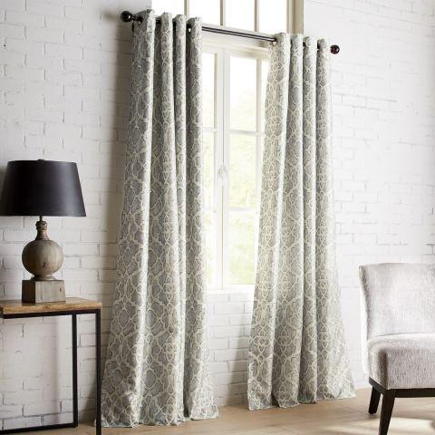 pier 1 imports mota gray grommet blackout curtain