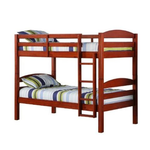 convertible twin solid cherry wood bunk bed