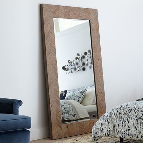 Full length mirror wood free livable new wood walllength for Wood floor length mirror