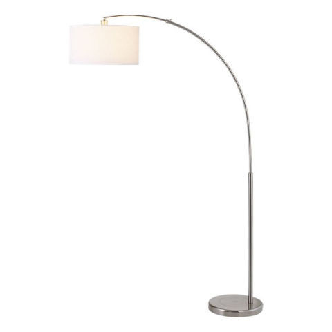 CB2 Big Dipper Arc Brushed Nickel Floor Lamp