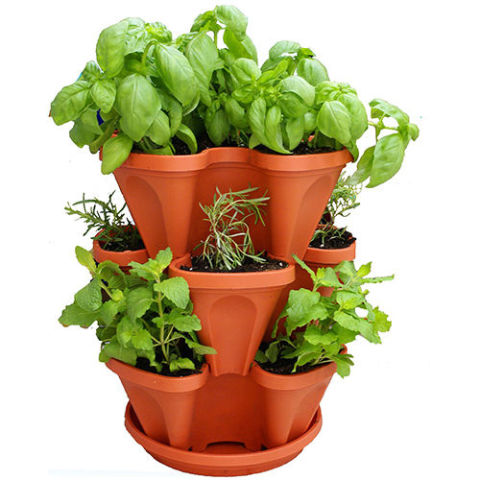 Mr. Stacky Self Watering 3 Tier Stackable Planter Set